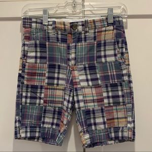 Very good condition madras plaid Crewcuts shorts